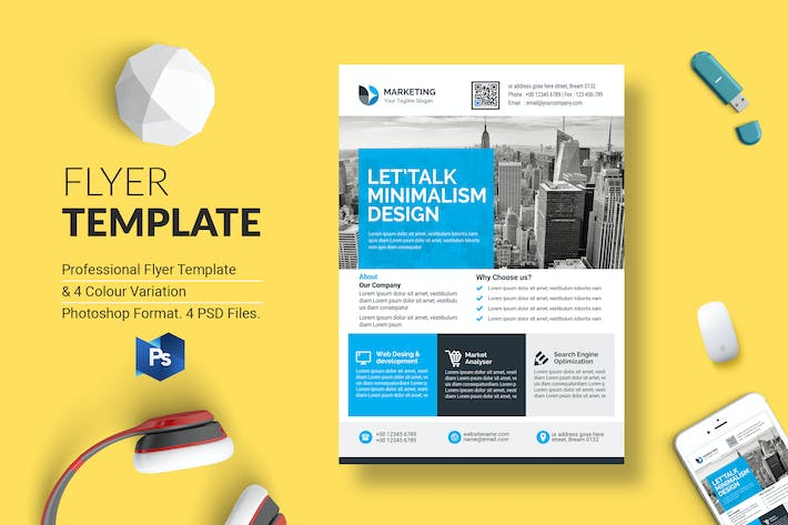 Thumbnail for Business Flyer Template 44