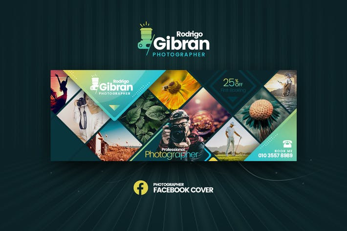 Thumbnail for Photographer Facebook Cover Template