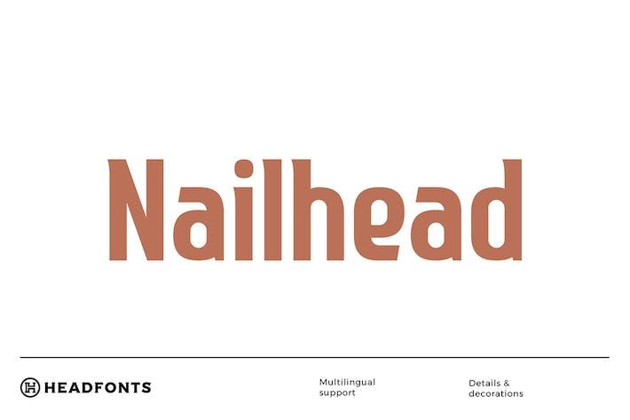 Thumbnail for Nailhead современный шрифт