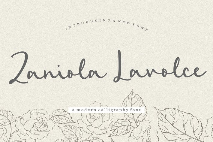 Thumbnail for Zaniola Lavolce YH - Fuente de caligrafía moderna