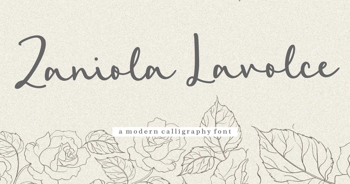 Download Zaniola Lavolce Calligraphy Font YH by GranzCreative