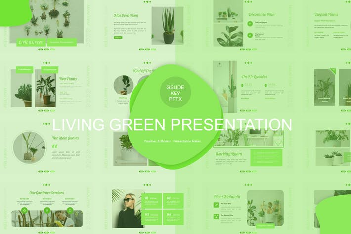Thumbnail for Living Green Presentation Template
