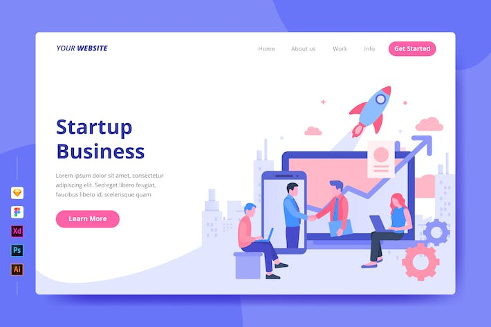Thumbnail for Startup Business - Landing Page