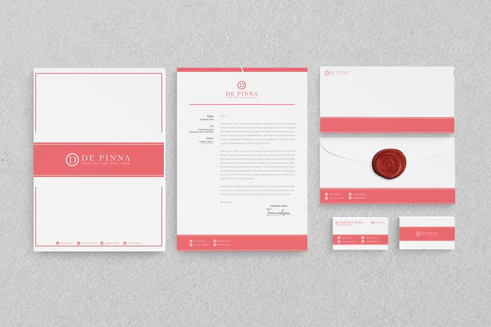 Thumbnail for Pink Branding Identity & Stationery Pack