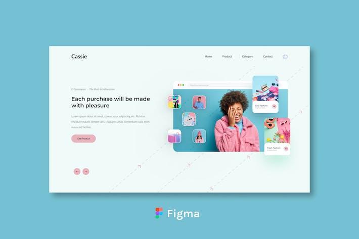 Cessie - E Commerce Header Design Figma
