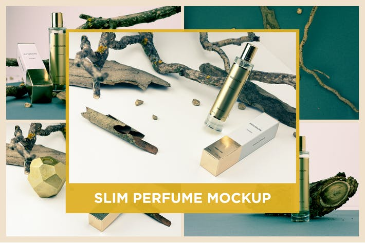 Thumbnail for Slim Perfume Mockup