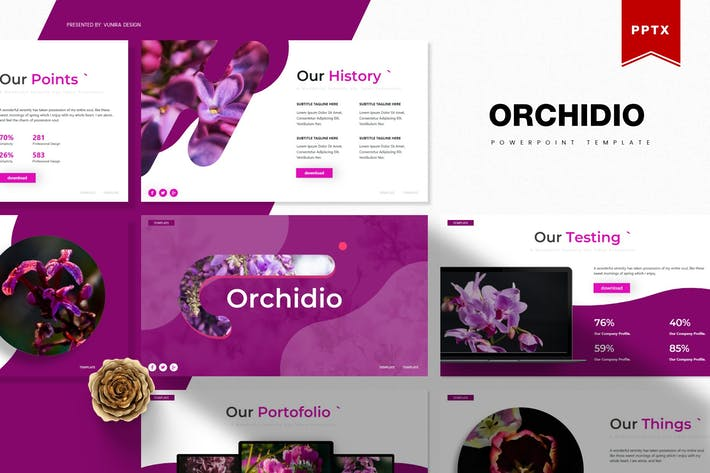 Thumbnail for Orchidio | Powerpoint Template