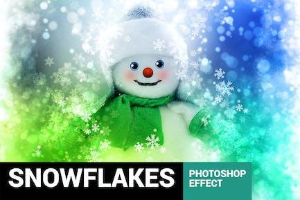 Celebratum 2 - Christmas Snowflakes Photoshop Acti