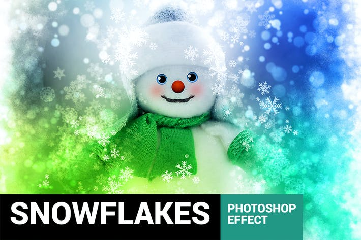 Thumbnail for Celebratum 2 - Christmas Snowflakes Photoshop Acti