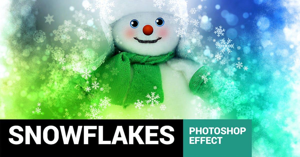 Download Celebratum 2 - Christmas Snowflakes Photoshop Acti by profactions