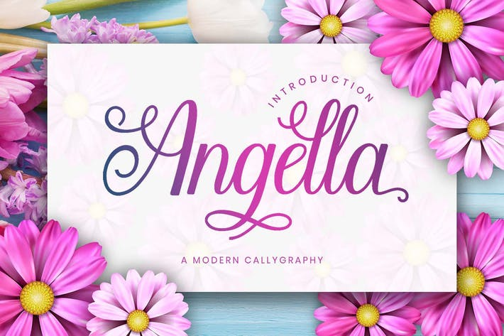 Thumbnail for Polices Angella Script
