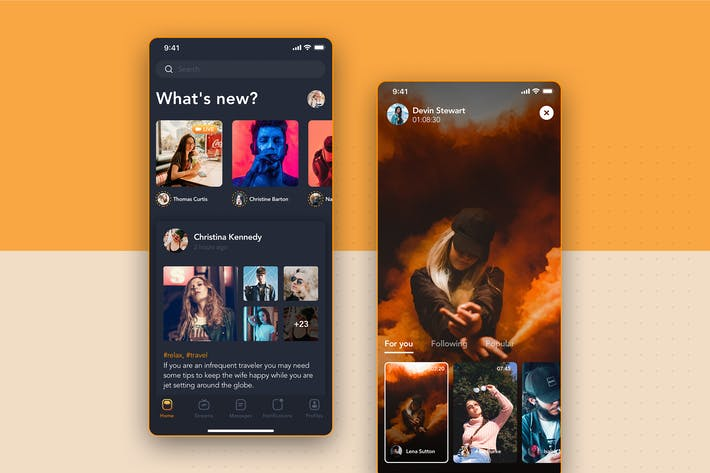 Thumbnail for Video Streaming Screen - Social Mobile UI Concept