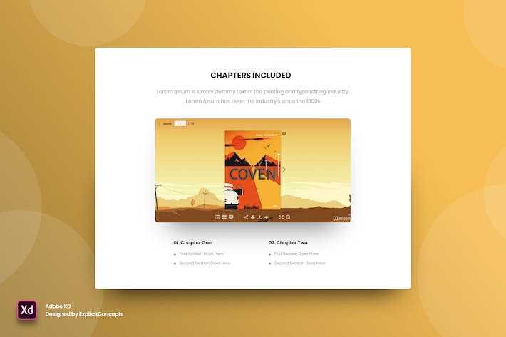 Thumbnail for Ebook Chapters - Adobe XD