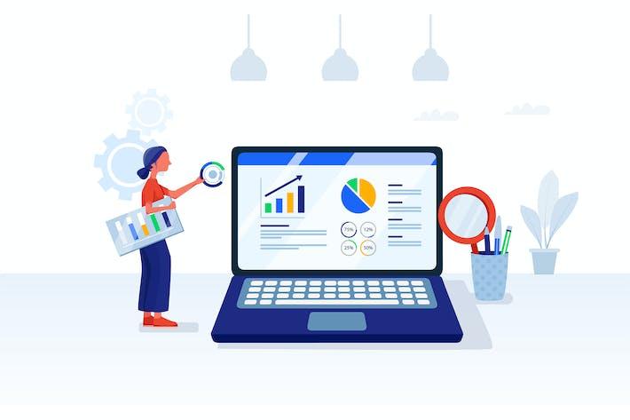 Thumbnail for SEO Analysis & Digital Marketing Illustration