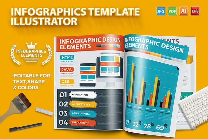 Thumbnail for Infographics Template Design 4
