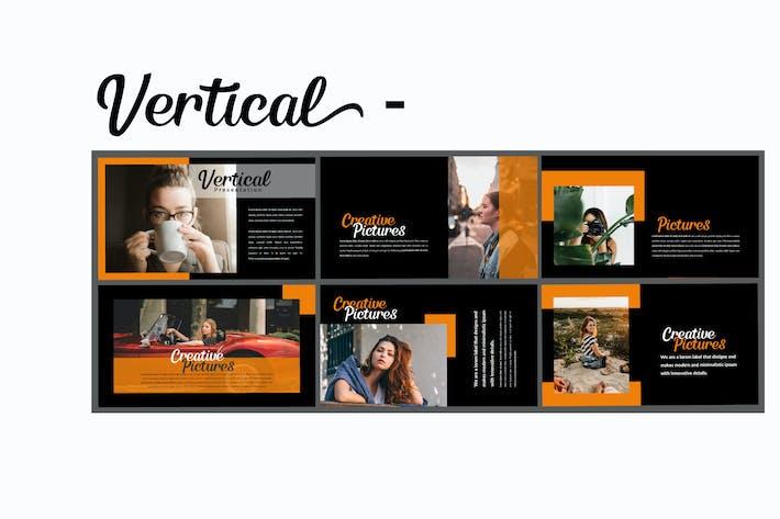 Thumbnail for Vertical Dark- Creative Keynote Template