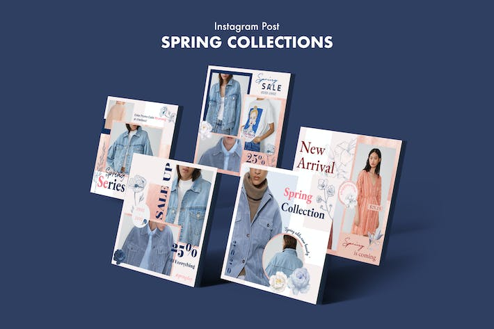 Thumbnail for Creative Fashion Sale Instagram Posts PSD Template
