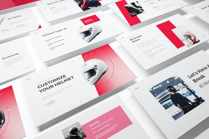 Helmet Shop Powerpoint Template