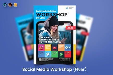Social Media Workshop Flyer Template