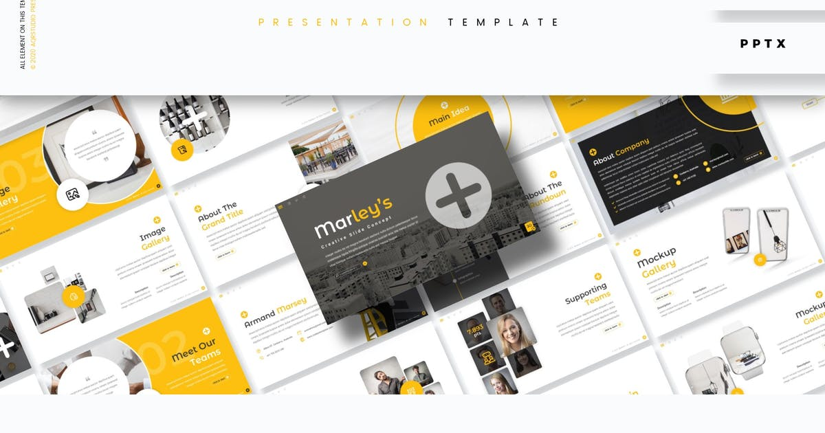 Download Marley's - Presentation Template by aqrstudio