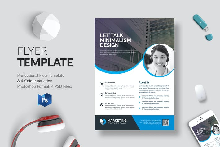 Thumbnail for Business Flyer Template 22