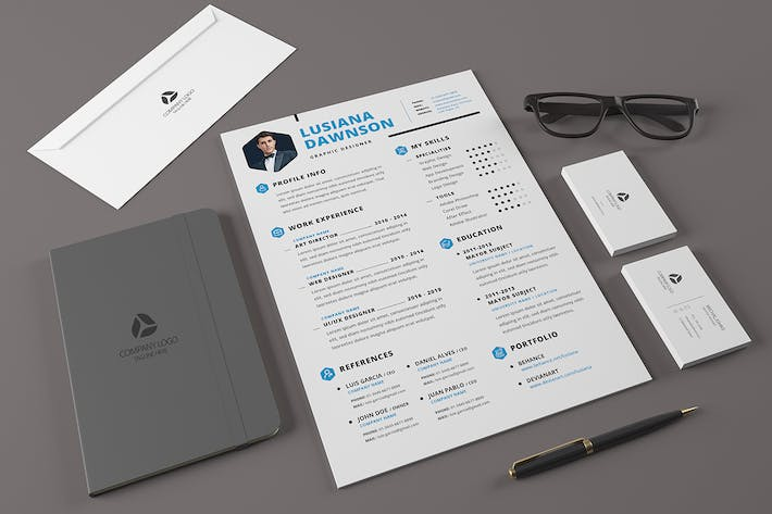 Thumbnail for Minimal Resume Template v.5