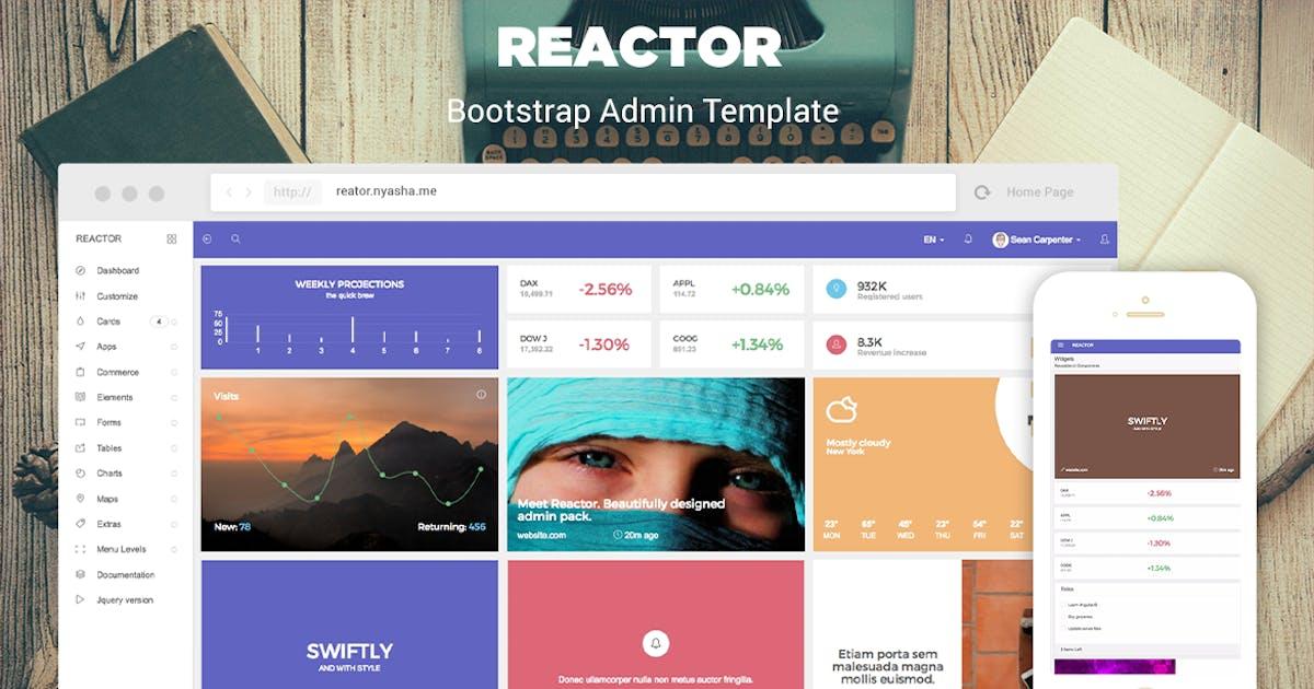 Download Reactor - Bootstrap Admin Template by iamnyasha