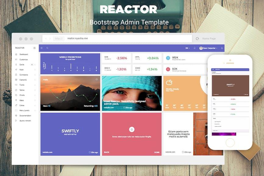 20 Free & Premium Bootstrap Admin Dashboard Templates - Envato