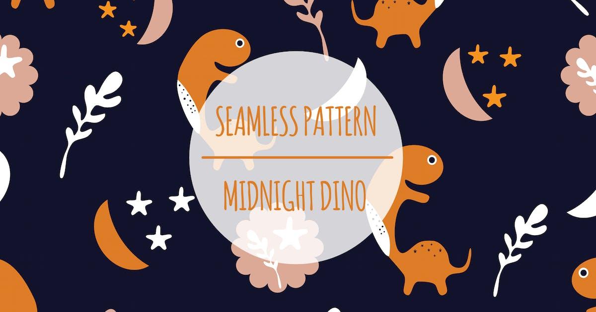Download Midnight Dino – Seamless Pattern by designesto