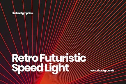 Retro Futuristic Speed Light Backgrounds