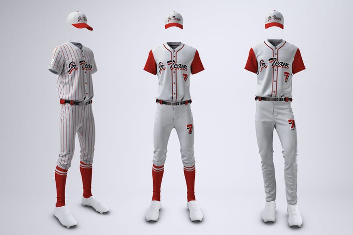 Thumbnail for Baseball Team Uniform Mock-up