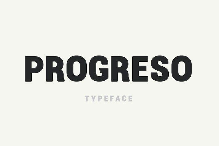 Thumbnail for Progreso Typeface