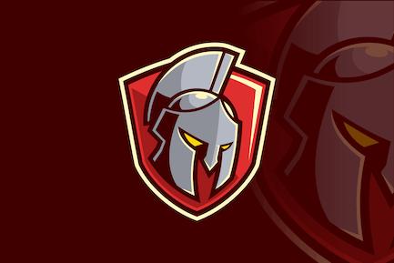 Dynamic Gladiator Spartan Shield Emblem
