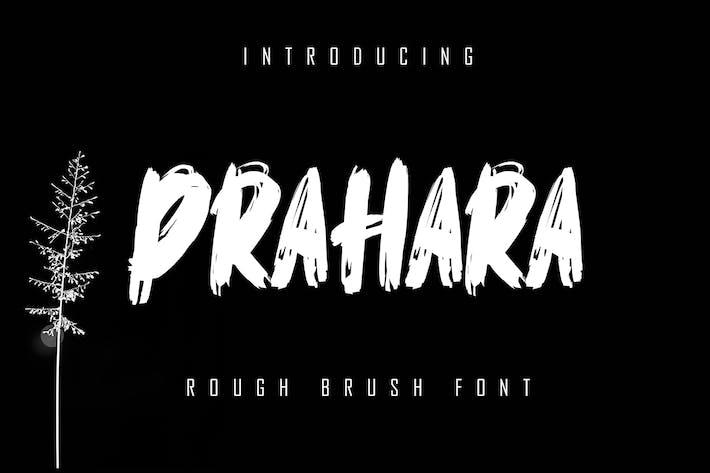 Prahara - Rough Brush Font