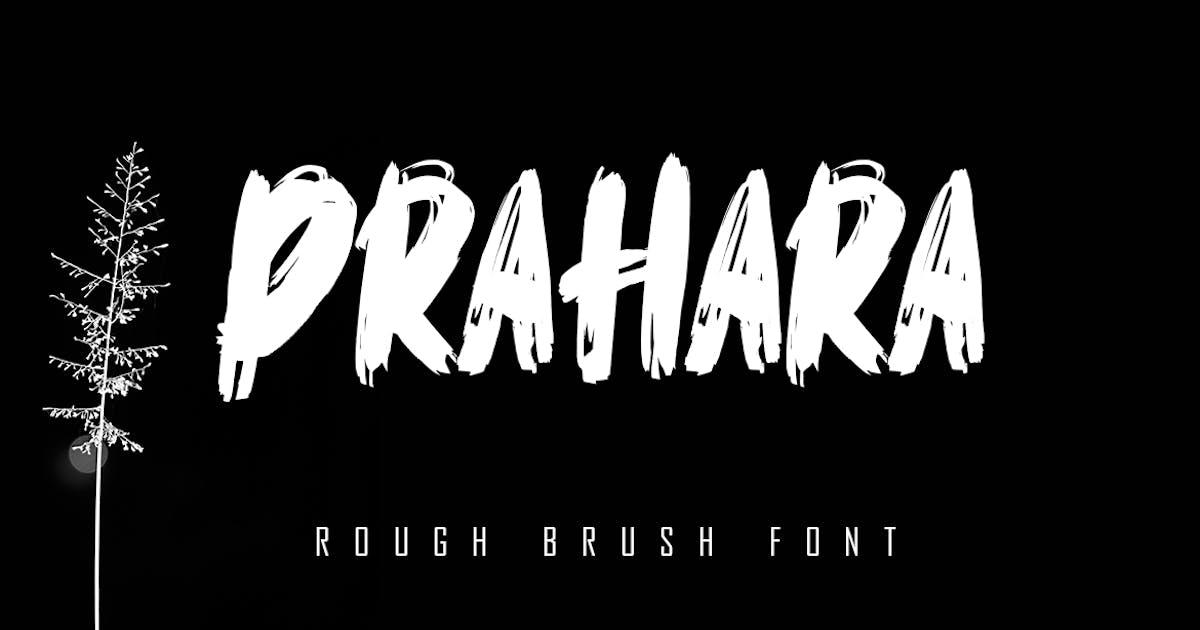 Download Prahara - Rough Brush Font by Skiiller_studio