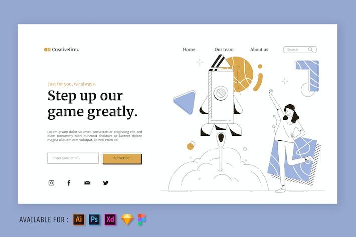 Startup Launch - Web Illustration