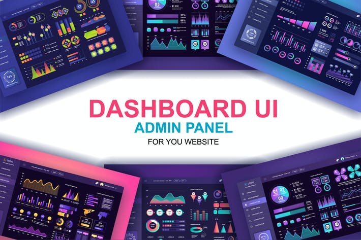 Thumbnail for Dashboard UI Admin Panel Template Dark