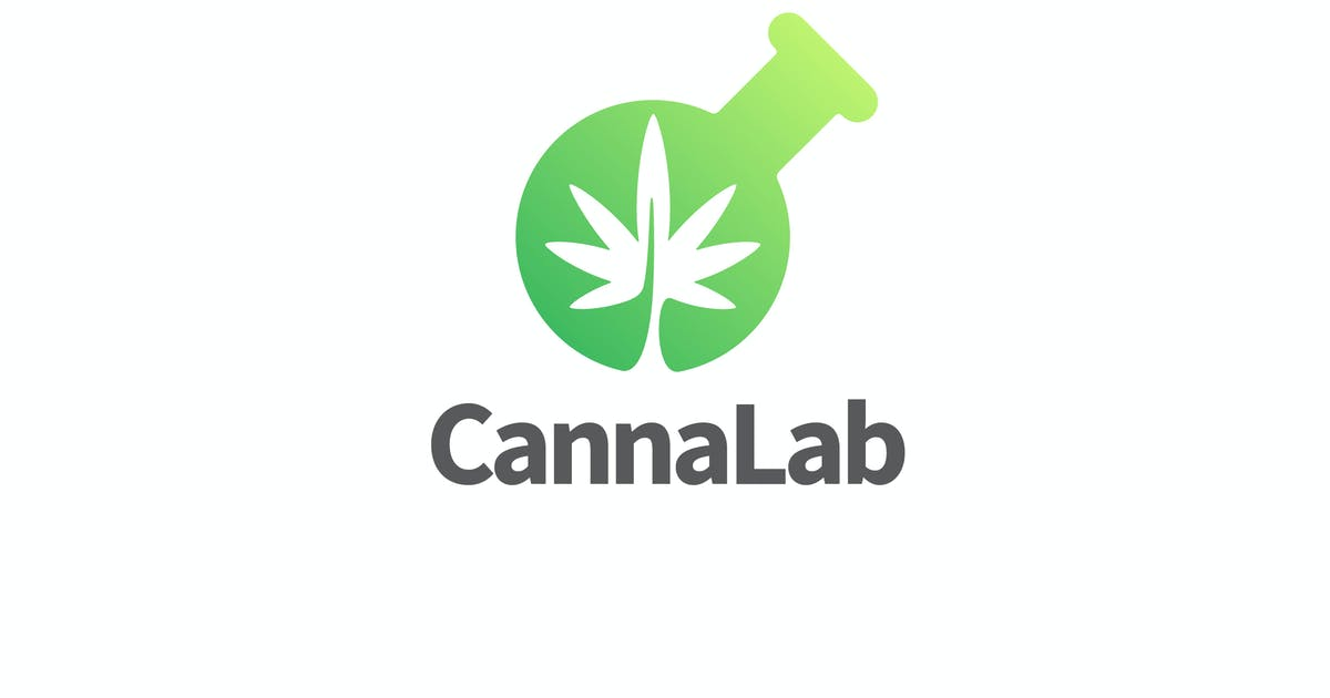 Download CannaLab - Cannabis Leaf & Lab Flask Logo by Suhandi