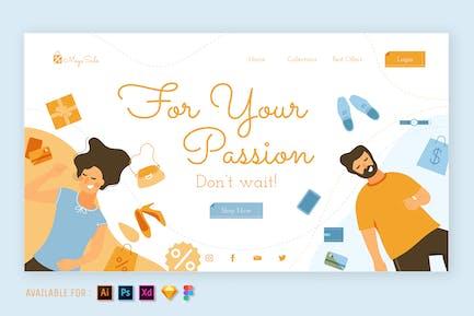 Fashion Store - Web Illustration