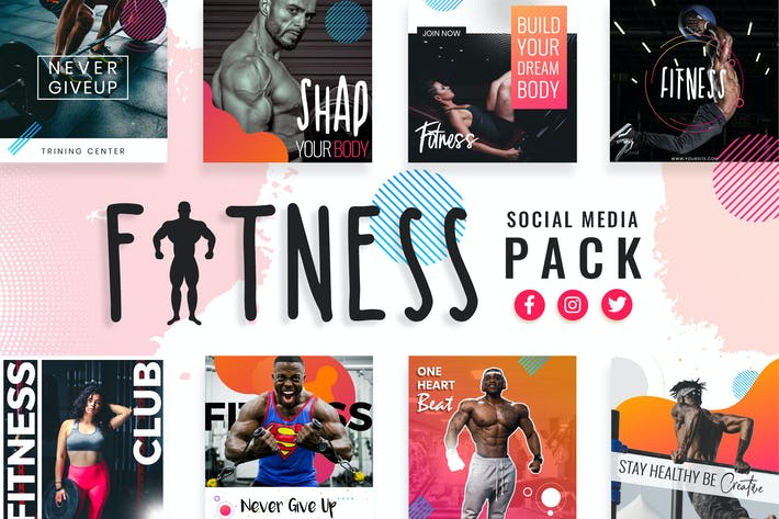 Thumbnail for Fitness & Gym Social Media Templates