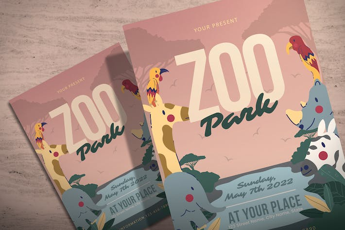 Thumbnail for Zoo Park - Illustration Flyer Template