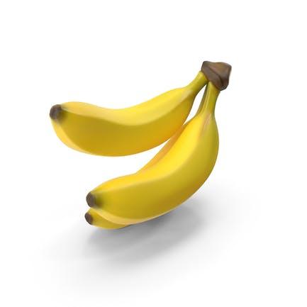Rama de plátanos amarillos maduros