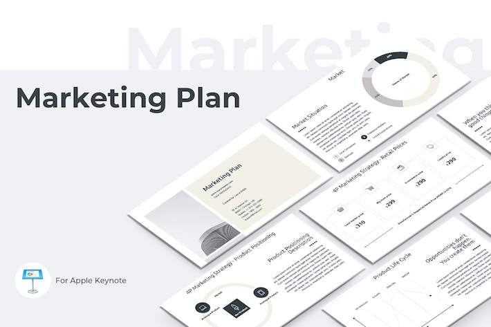 Thumbnail for Marketing Plan Keynote Presentation Template