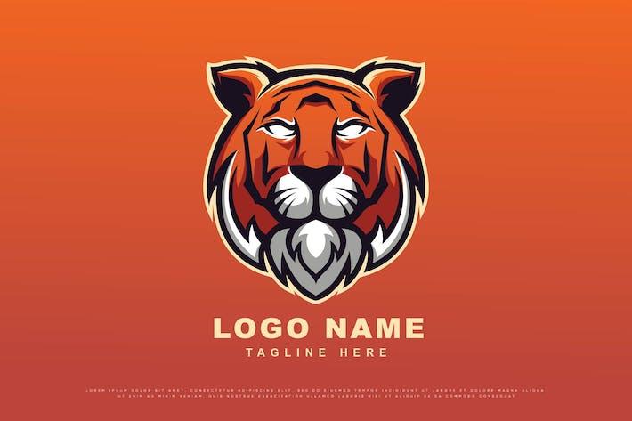 Thumbnail for tiger head vector mascot logo