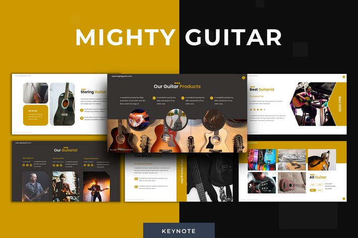 Thumbnail for Mighty Guitar - Keynote Template