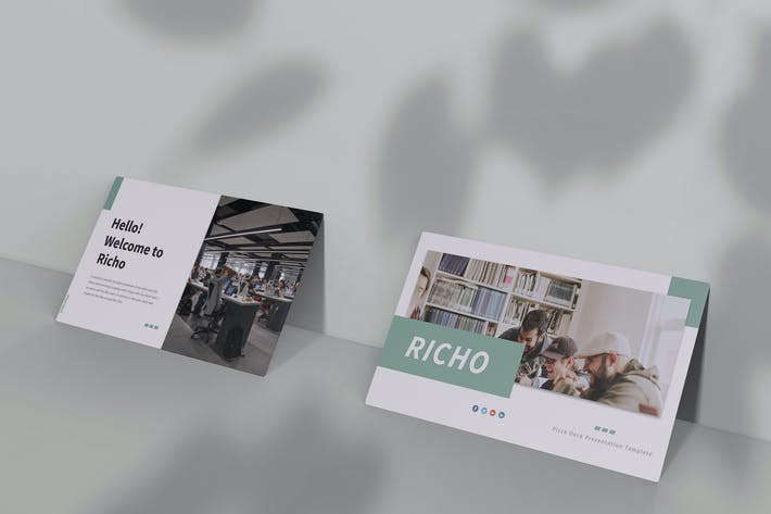 Thumbnail for Richo - Pitch Deck Keynote Template