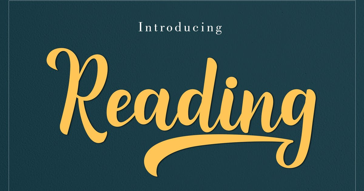Download Reading Scirpt by amarlettering