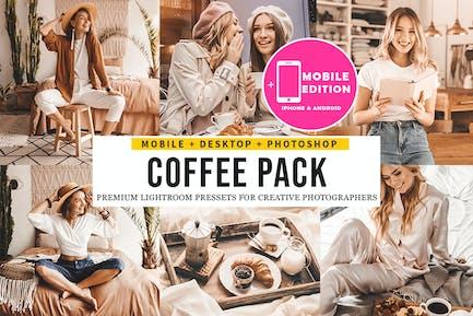 Coffee Пресеты Lightroom для мобильных и настольных ПК