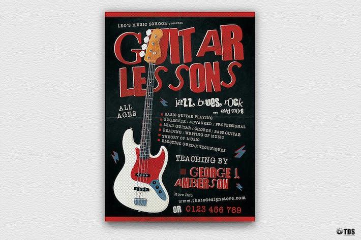 Thumbnail for Guitar Lessons Flyer Template V2
