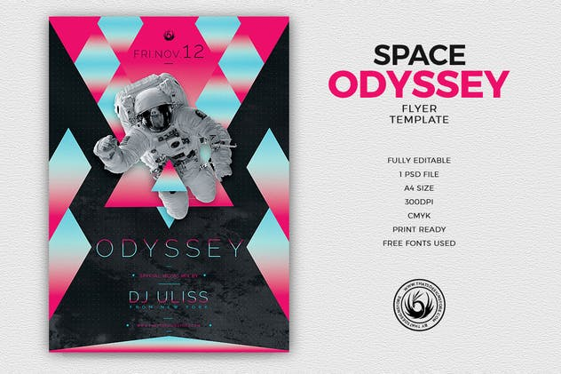 Odyssey Flyer Template